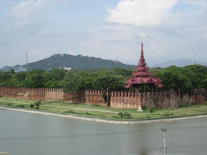 A view from the Hotel Sahara in Mandalay ($30 per night)