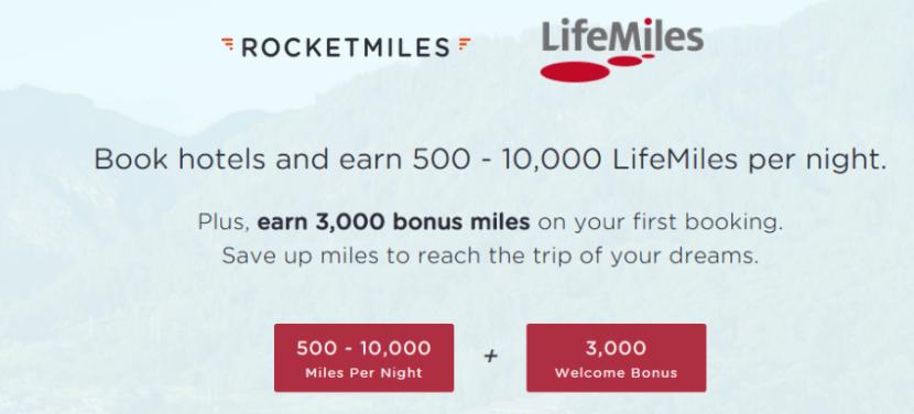 Earn bonus Avianca LifeMiles with Rocketmiles bookings