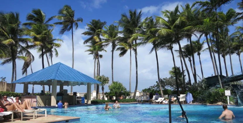 Pool area at the San Juan Marriott. Photo by Kelsy Chauvin.