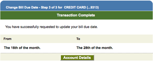 I was able to quickly and easily change my bill due date online, and when I called customer service, the rep confirmed that this changed my statement close date as well.