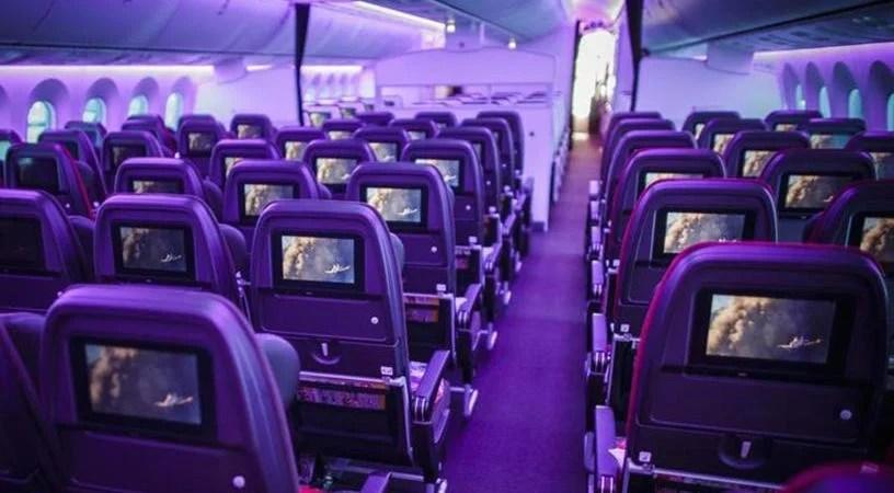 Virgin Atlantic's 787 interior.