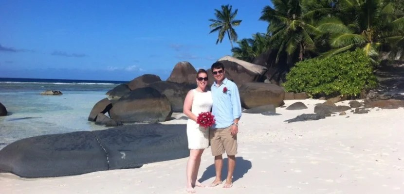 The sign-up bonus is almost enough for a free night at the Hilton Labriz in the Seychelles, where my wife and I renewed our vows in 2013 (on an award stay, of course).