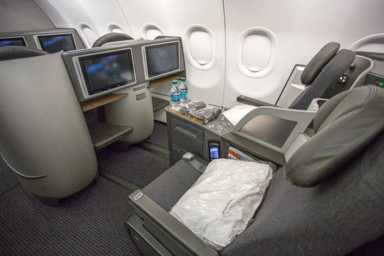 Business class on AA's A321T.