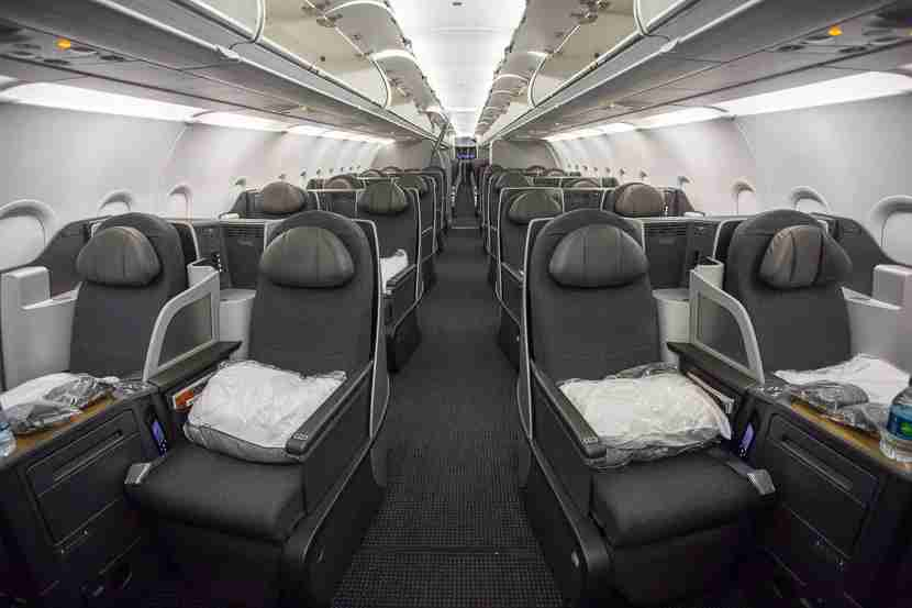 The business class cabin is really comfy and a wonderful way to cross the country.