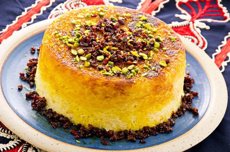 It's easy to find hearty Persian specialties like tadig rice with sour cherries