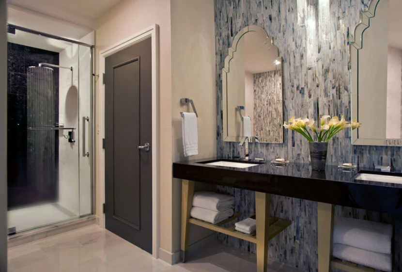 A suite bathroom at The Gwen, a Luxury Collection Hotel. (Photo courtesy Starwood).