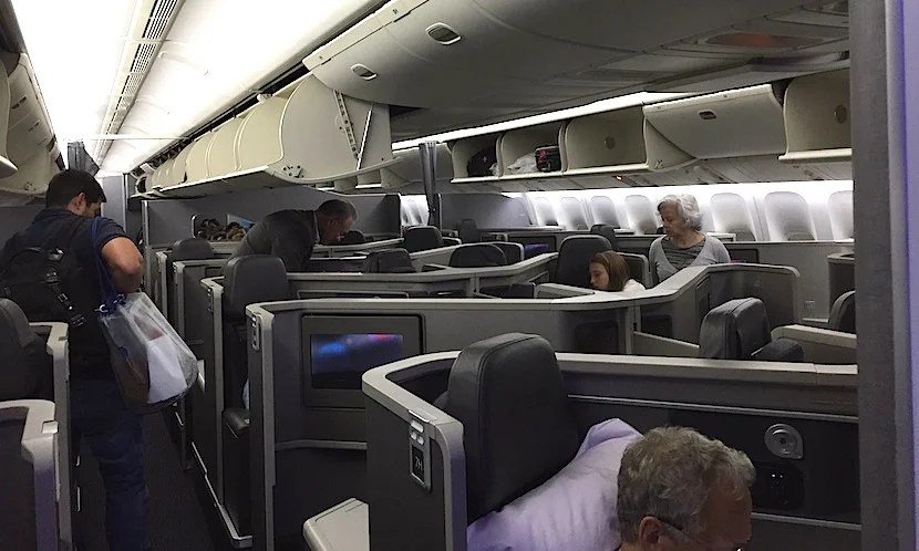 American's new 777-200 business cabin is much more desirable than the old seven across cabin.