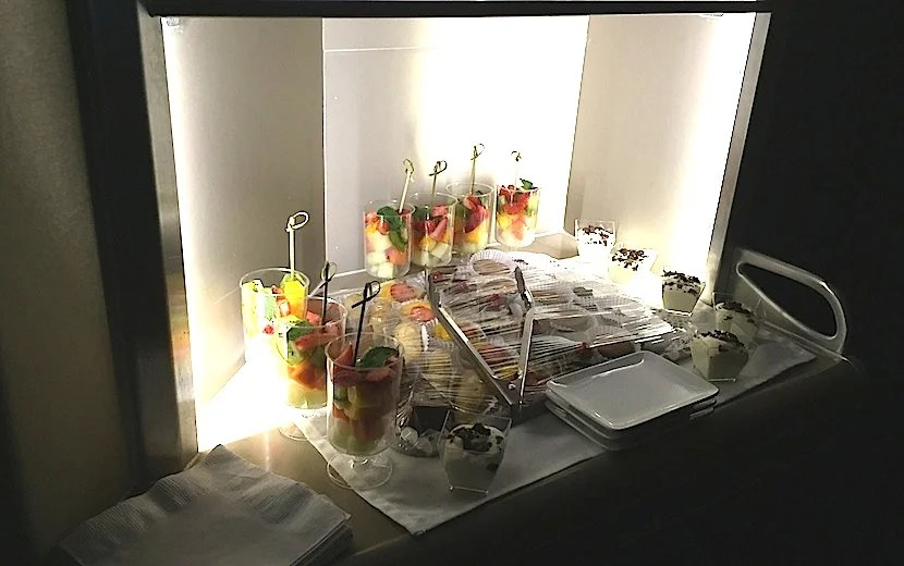 Snacks in the galley.