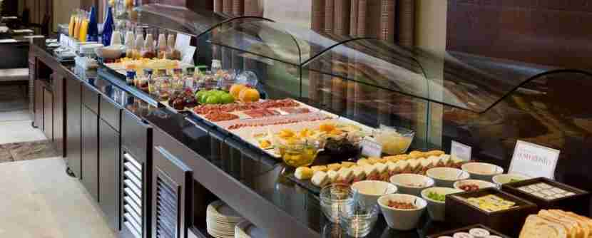 Part of the breakfast spread at the NH Collection Palacio de Aranjuez in Madrid, Spain.