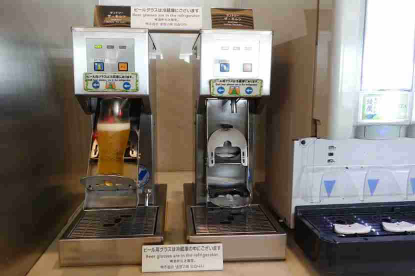 "The ""beer machine"" at NRT."