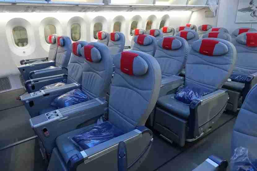 Premium seats on Norwegian
