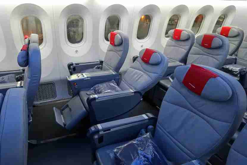 A reclined Premium seat.