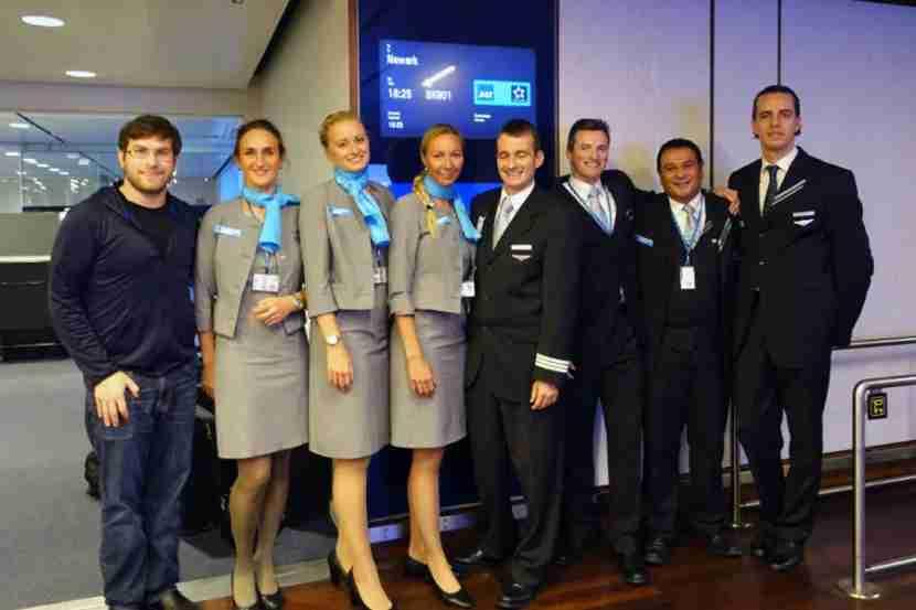 SAS crew photo with passenger #1.