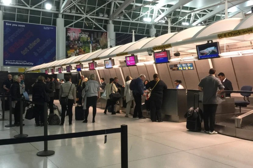 Norwegian's check-in counter was relatively empty.