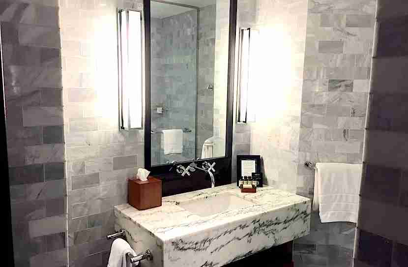 I loved the all-marble bathrooms.