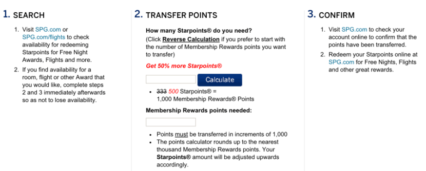 Points transfer at a 2:1 ratio.