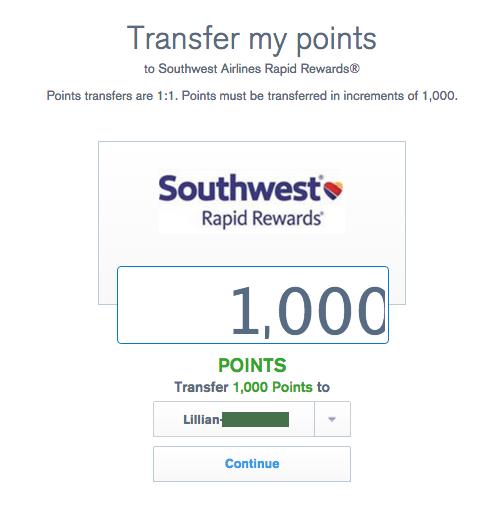 UR transfer to Southwest