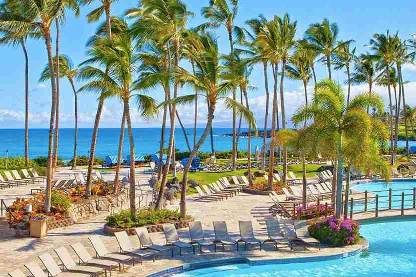 The pool at Hilton Waikoloa Village
