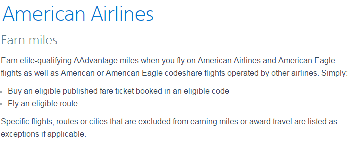 "The ""Earn Miles"" section of the AA website is going to be a lot less ""simple"" starting late 2016"