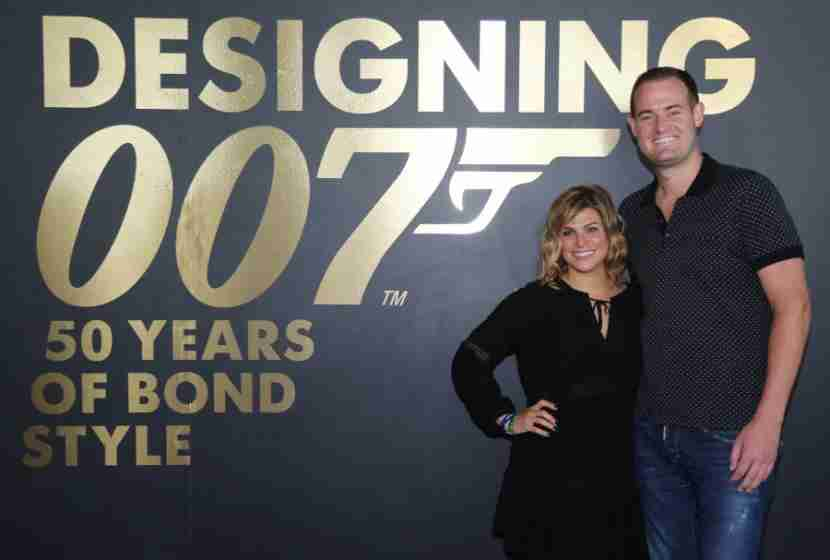 My friend, Alex, and I at the Designing Bond exhibit.