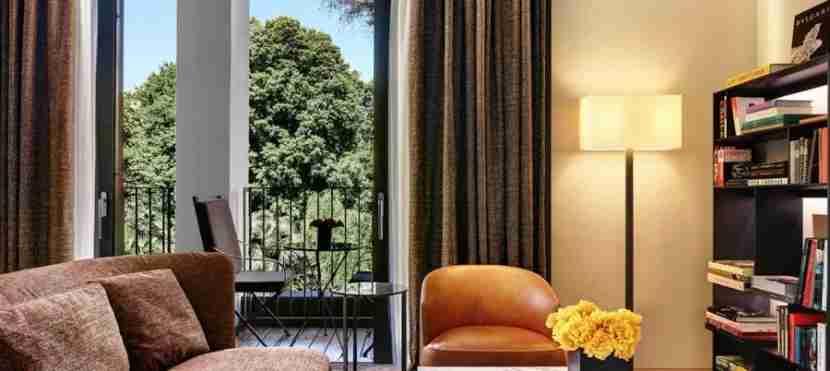 The Bulgari hotel, previously a palace, has plenty of gardens.