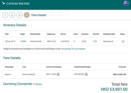 Hedendaags Cathay Pacific 777-300ER Business Class Review SU-98