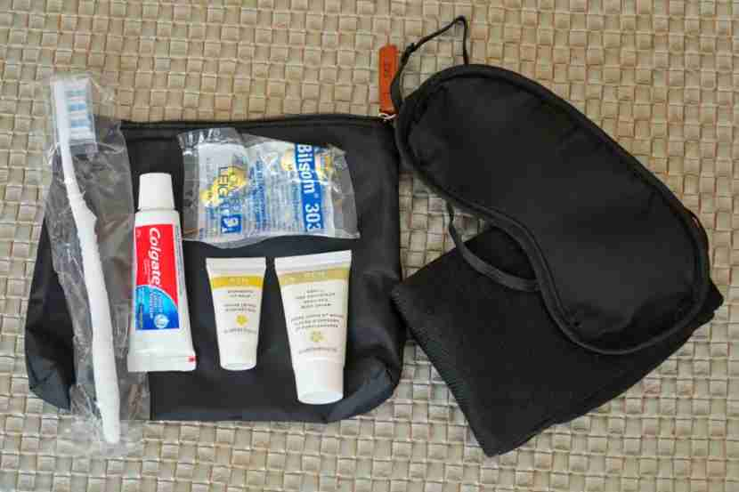 SAS business-class amenity kit.
