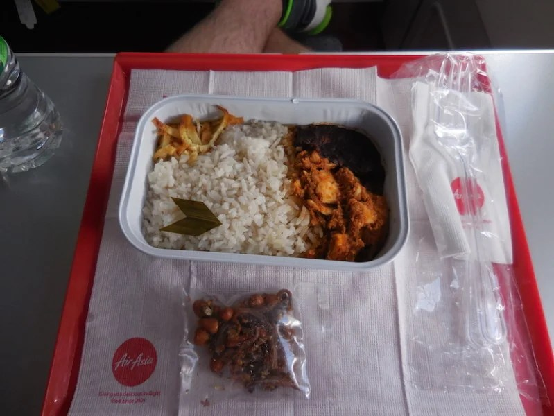 I had the Nasi Lemak or the Malaysian national dish - a coconut rice dish with Chicken. Photo courtesy Richard Kerr