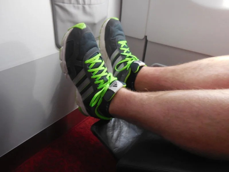 I could not stretch out my legs when the seat was fully extended. Photo courtesy Richard Kerr