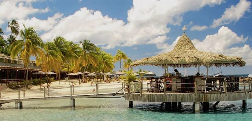 The Hotel Bakoua in Martinique.