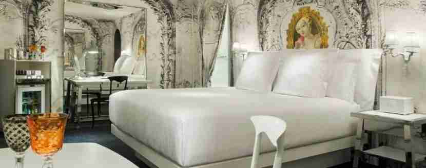 A guest room in SLS
