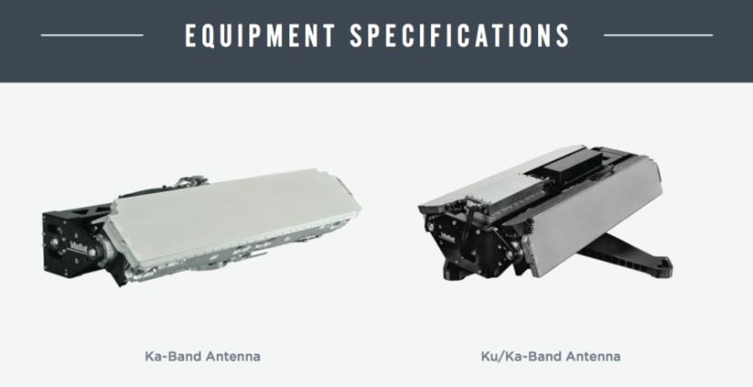 ViaSat Ka and Ka/Ku-Band satellite antennas. Photo courtesy of ViaSat.