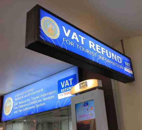 Even with big signs, VAT Refund offices can be hard to find at some airports. - Image courtesy of Shutterstock.