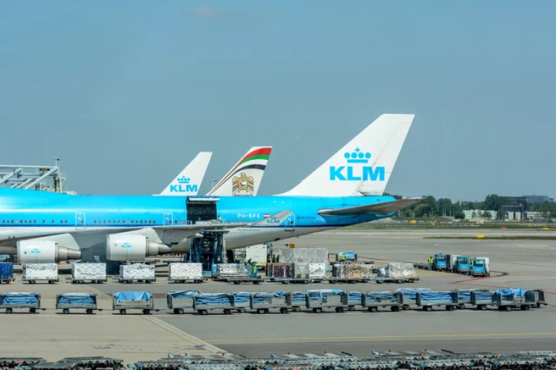 Some 747s are equipped to take passengers up front and extra cargo in back on the main deck.