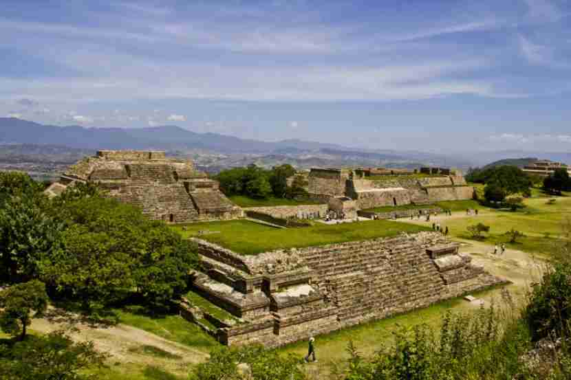 Monet Alban, the ruins of the Zapotec political center not far from Oaxaca. Photo courtesy of Shutterstock.