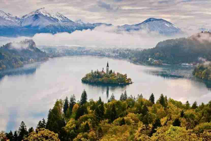 A panorama of Slovenia