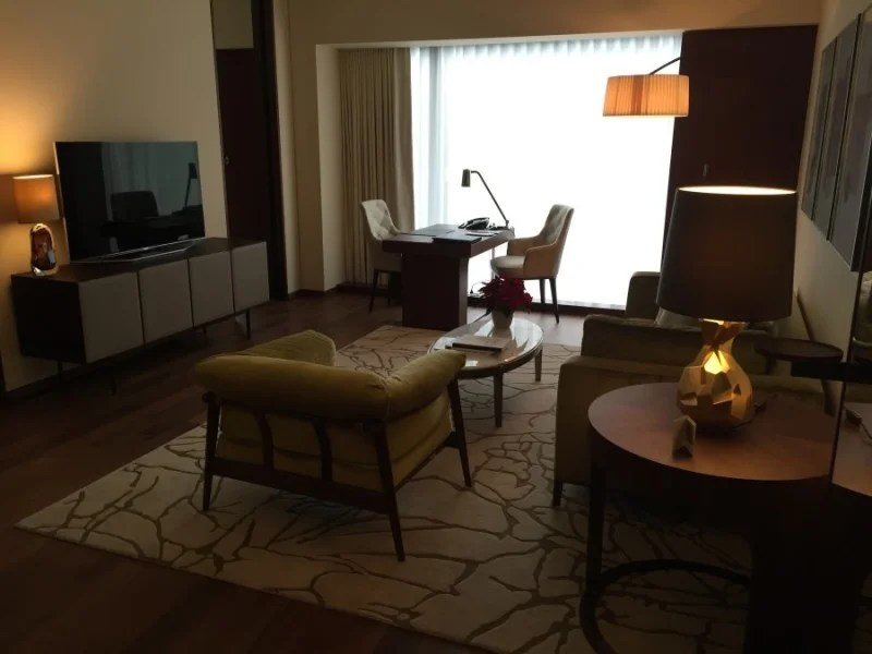 Park Hyatt Zurich suite living room