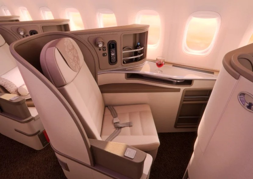 A side view of China Eastern's new seats. Photo courtesy of China Eastern.