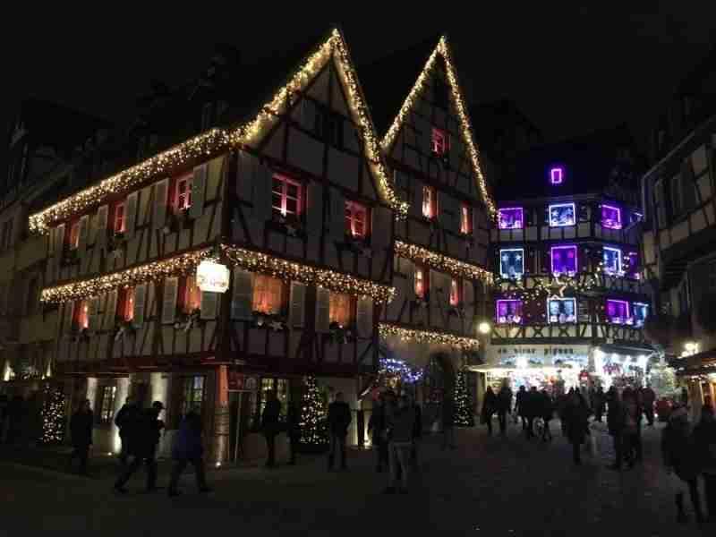 Colmar Christmas Market at night