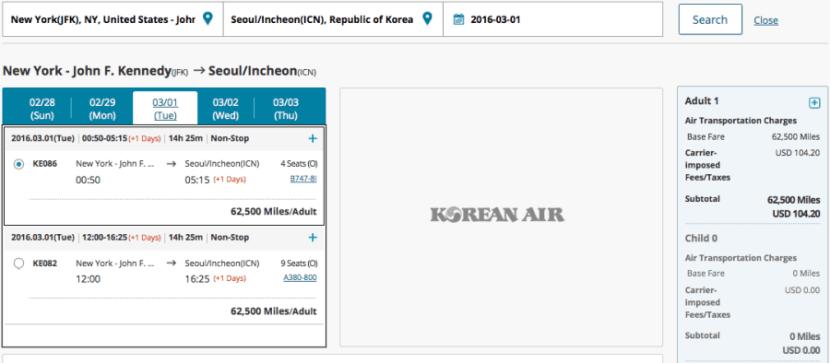 Korean Air JFK ICN
