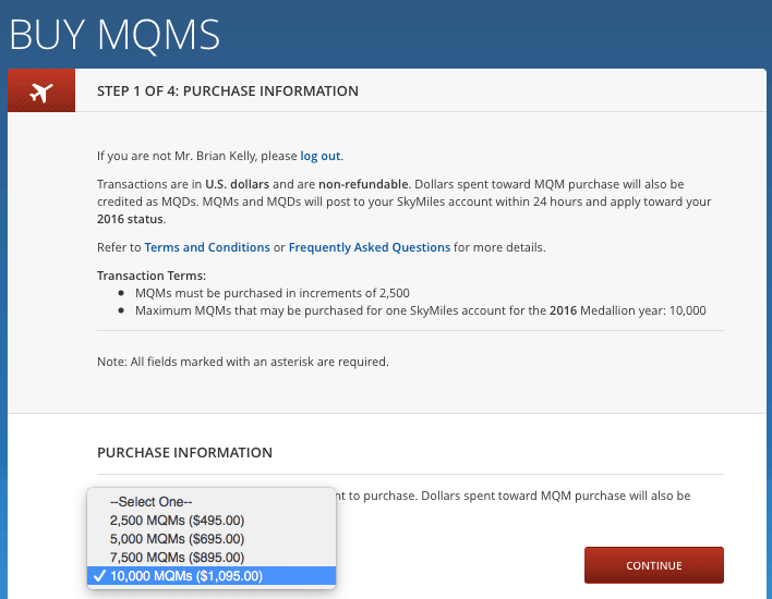 TPG was offered the chance to purchase 10k MQMs for $1,095.