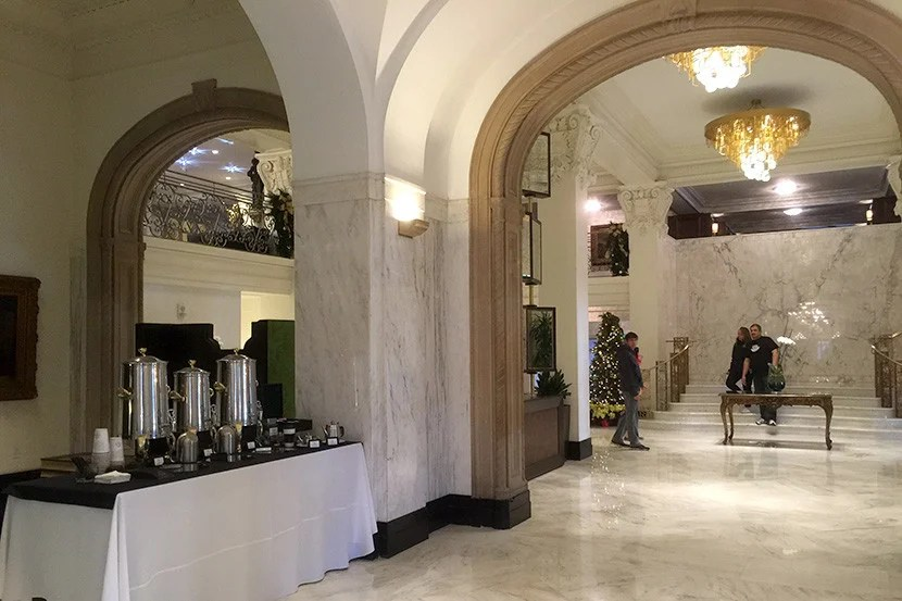 Complimentary coffee is available in the lobby through the late morning.
