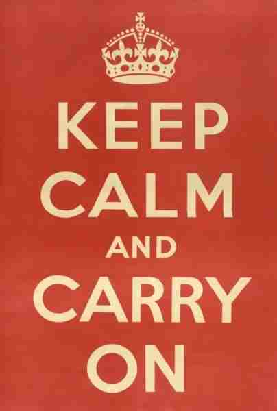Keep calm and carry on — though not necessarily your luggage!