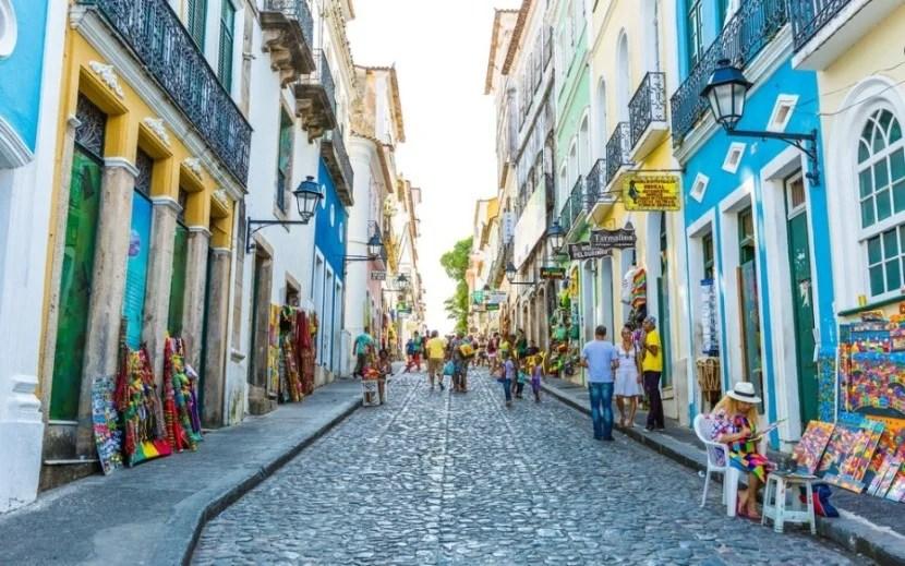 Pelourinho in Bahia was colonial Brazil's first capital. Photo courtesy of Shutterstock.