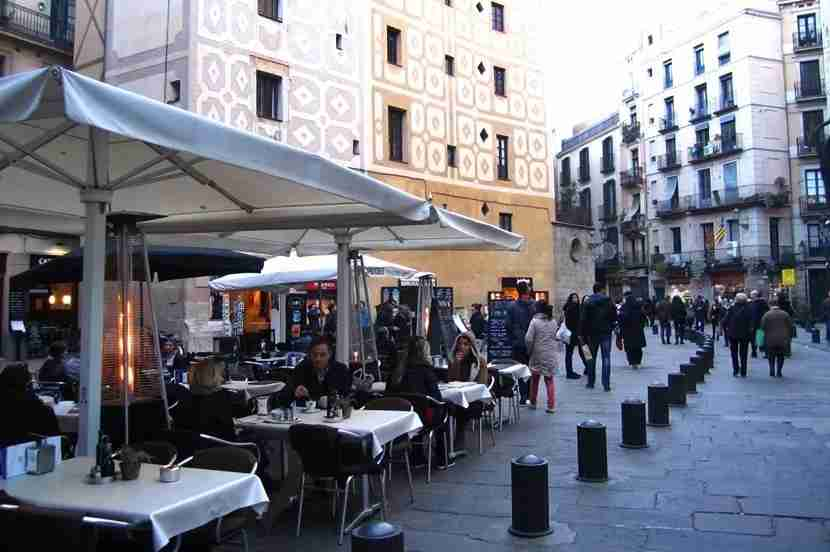 Check out one of the many restaurants in Barcelona