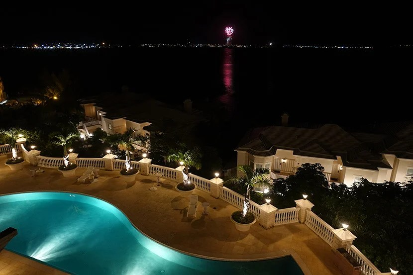 We loved watching the fireworks from our balcony.