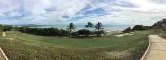 The Golf Course hugged the Pacific coast on many holes.