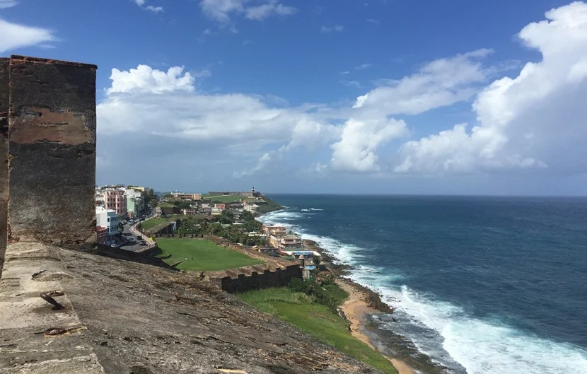 Catch views of the water and city from Castillo de San Cristóbal in Old San Juan.