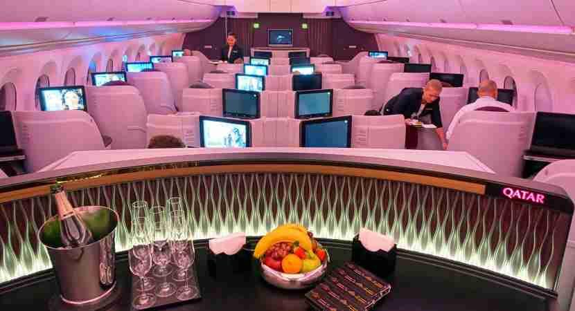 The interior of Qatar