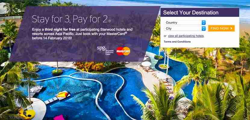 Get an extra night free with SPG.